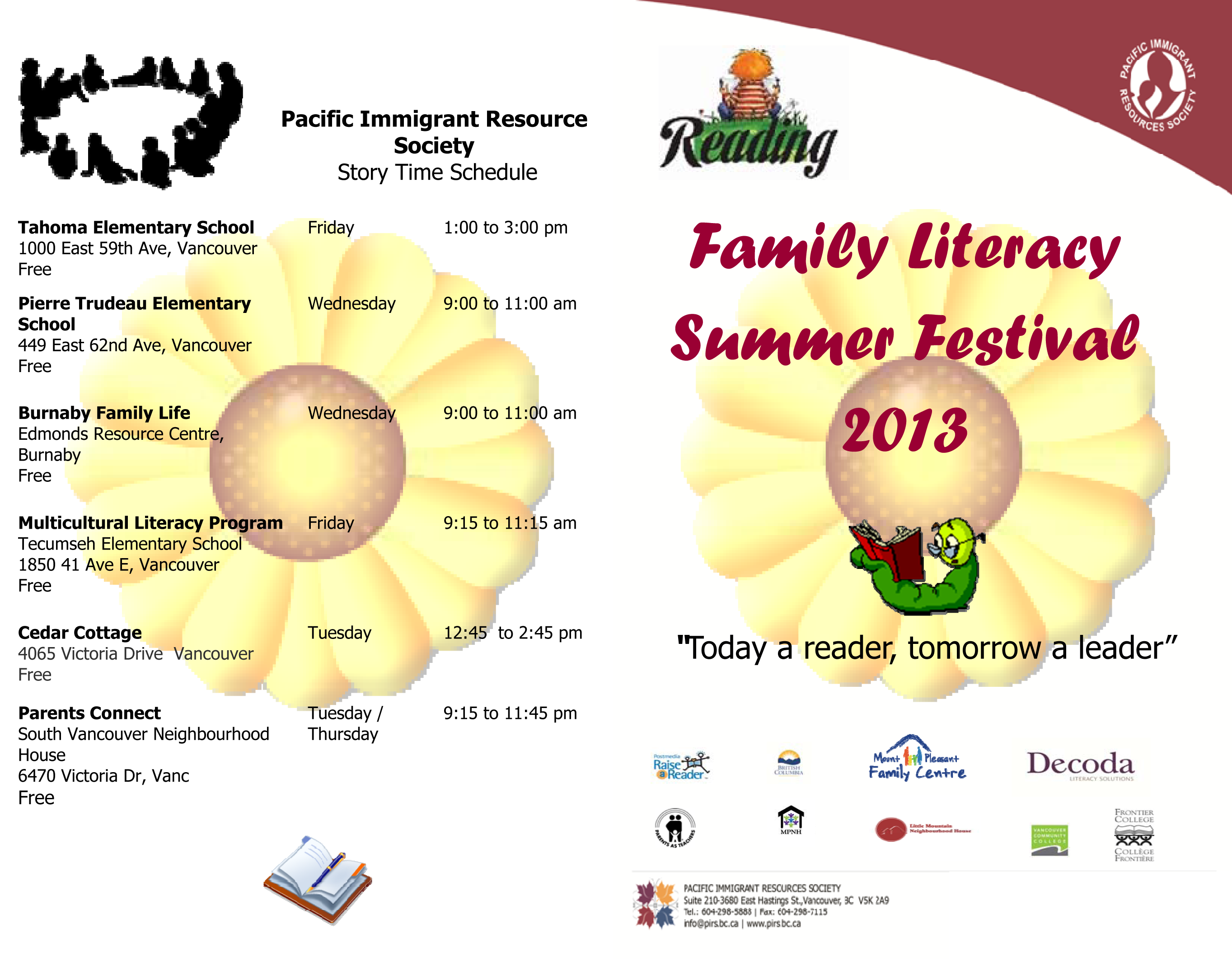 FINAL Family Literacy Summer Festival Programme-p1