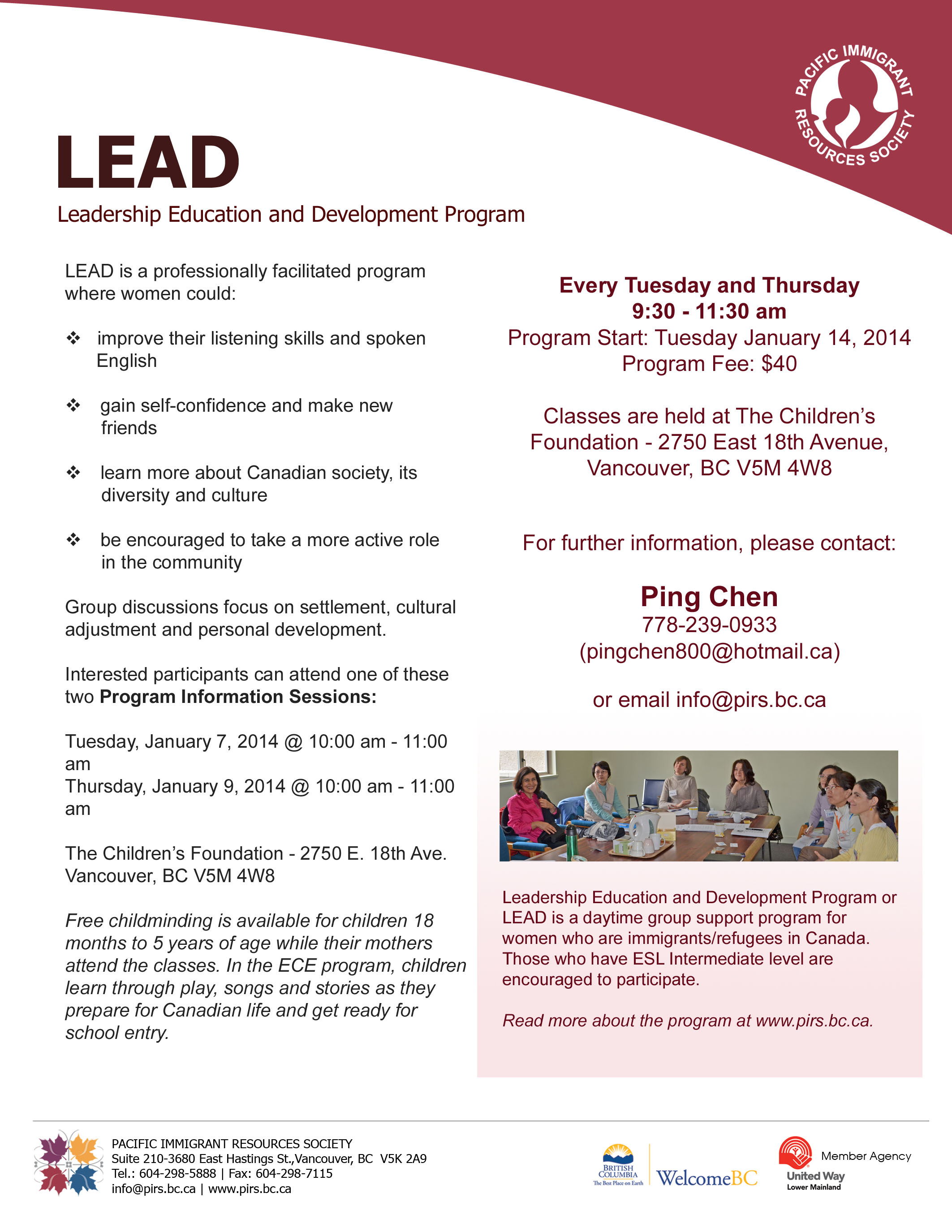 LEAD Flyer - Winter 2014