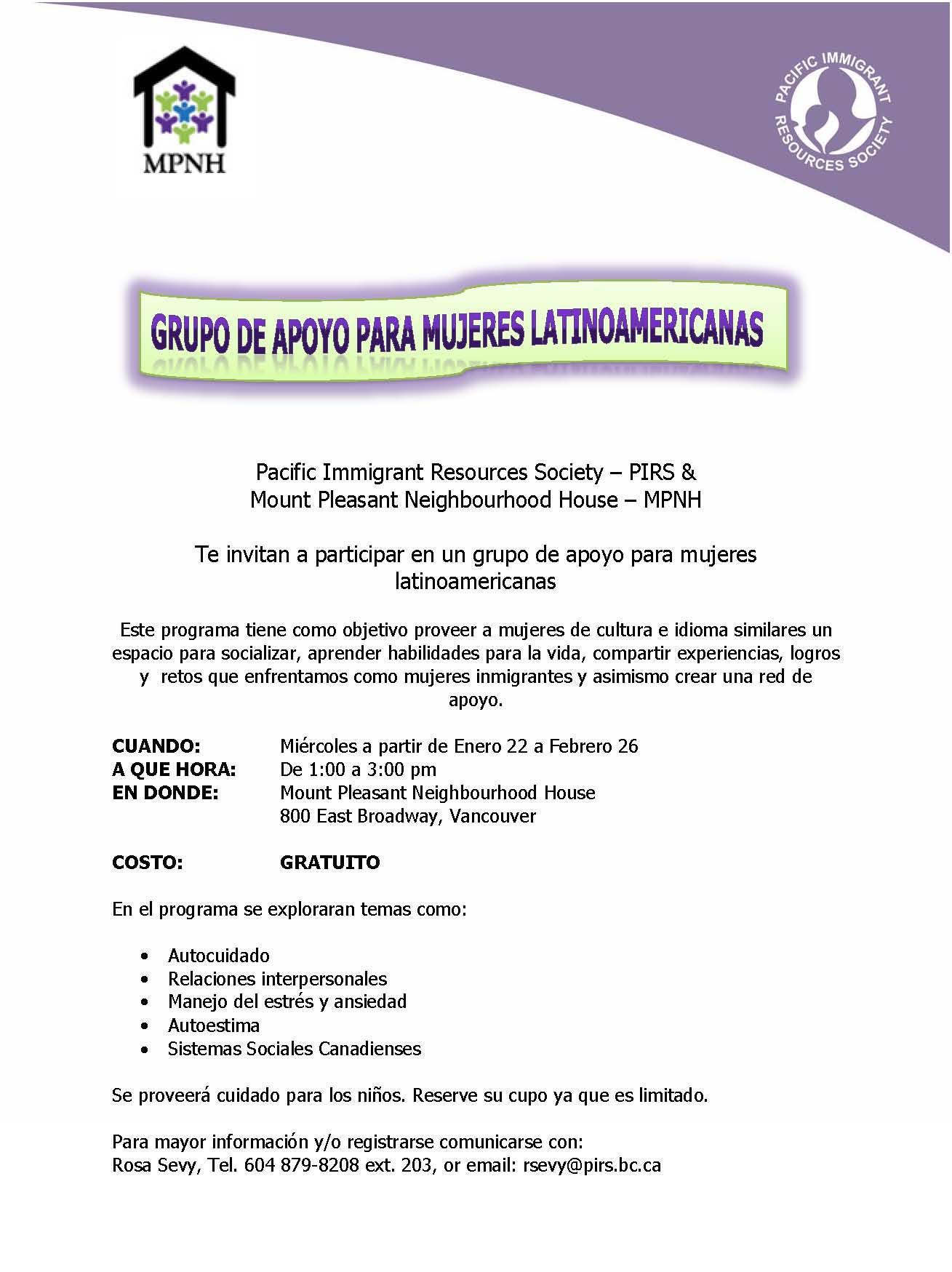 Poster Spanish Speaking Group MPNH 2014